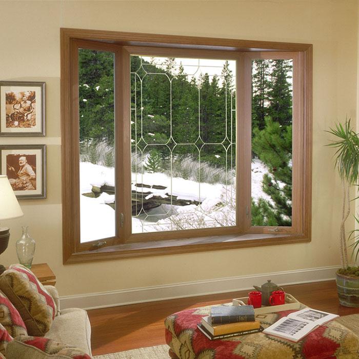 Деревянные окна в доме